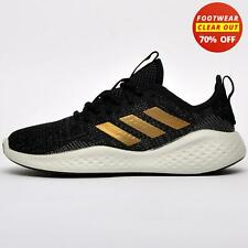 SALE - Adidas FluidFlow Womens Running Shoes Fitness Gym Trainers Black
