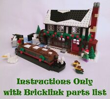INSTRUCTIONS for custom LEGO Winter Village Pub (Canal-Side Inn) (Christmas)