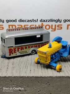 Matchbox Lesney Pair Refreshments Canteen, Ford Tractor Original Vintage Diecast