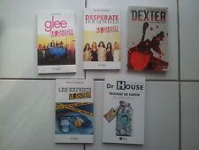 lot 5 livres ' guide du série addict ' Dr House Dexter Glee Les Experts Desperat