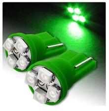 2 LUCI DI POSIZIONE LED VERDE XENON T10 4 SMD lampadina auto 12V W5W car fari