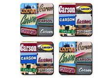 Personalized Coasters featuring the name CATHERINE in sign photos - Set of 4