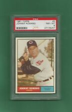 1961 Topps Cleveland Indians Johnny Romano # 5 PSA 8 NM-MT Rare Low Pop