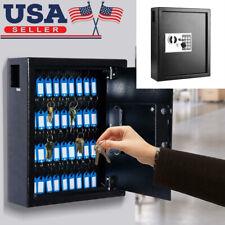Steel 40 Keys Mountable Programmable Cabinet Safe Hook Key Box With Digital Lock