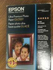 "New Epson Ultra-Premium Glossy Photo Paper (90) 4"" x 6"" Sheets opened box"