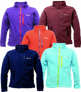 Regatta Marlin III Kids Fleece Jacket Zip Top Girls Boys Childrens RKA136
