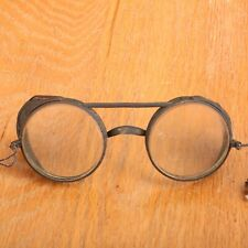 Vintage Steampunk WWII Glasses Leather Antique Old Mens