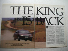 HOLDEN VN COMMODORE V8 THE KING IS BACK 4 PAGE MAGAZINE PREVIEW ARTICLE