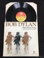 "Bob Dylan - Baby Stop Crying / New Pony 12"" Vinyl Ltd Edition CBS 12 6499 (1978)"