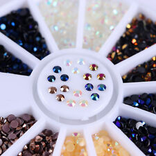 Chameleon Rhinestone 3D Nail Decoration Flat Bottom Colorful 2mm Manicure Tips