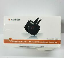 FIDECO SATA/IDE to USB 3.0 Adapter, Hard Drive Adapter SATA/IDE Cable S3G-PL03