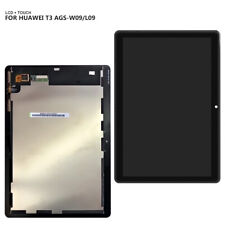 """Display LCD Touch Screen Huawei MediaPad T3 10"""""""" Ags-l03 Ags-l09 W09 Vetro Nero"""
