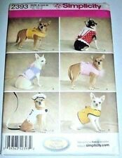 Small Dog Clothing Costume Sewing Pattern Simplicity 2393 6 Coats Hat Leash