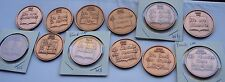 Copper Alcoholics Anonymous AA Step 12 Medallion Lot Chip Sobriety Sober