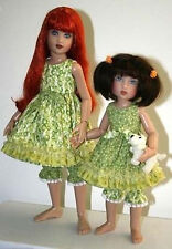 """Sweet Sisters Dress Doll Clothes Sewing Pattern for 12"""" Bethany 14"""" Kish"""