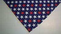 Dog Bandana/Scarf Tie On/Slide On Patriotic Custom Made by Linda XS, S, M, L