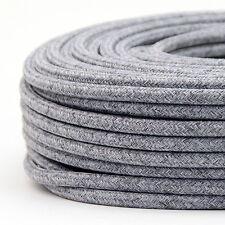 Textilkabel Stoffkabel Lampen-Kabel steingrau 2-adrig Stromkabel Elektrokabel