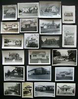 Lot of 21 VTG Snapshots Old Photos 1940s-1960s FAMILY HOUSES & HOMES