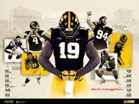2019 IOWA HAWKEYES Football Poster Official Schedule *FAST SHIPPING*