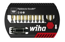 "Wiha 7947-0DR7 Screwdriver Bit Set Slotted/Phillips/PoziDriv 1/4"" DuraBit Flip"