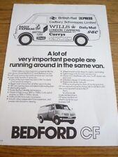 BEDFORD CF SALES 'BROCHURE' SHEET JULY 1968