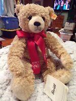 NEW STEIFF EAN 681554  FAO SCHWARZ 150th Anniversary TEDDY BEAR LIMITED E104