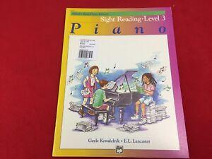 Alfreds Basic Piano Library - Sight Reading - Level 3 -  5763 - (E)+
