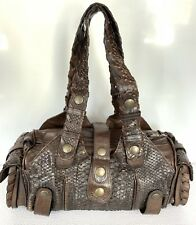 Authentic Chloe Silverado Brown Python Leather Shoulder Bag