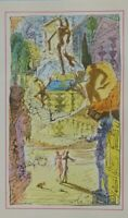 Salvador DALI :  L'entrée du Paradis  - Rare estampe signée, 1948