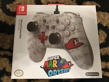 Nintendo Switch Wired Controller Super Mario Odyssey Grey White New Style