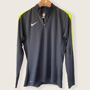 Nike Soccer Long Sleeve 1/4 Zip Pullover-Black-Size Medium