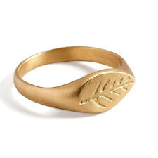 New Arrivals 18k Solid Yellow Gold Leaf Design Ring Handmade Fine Women Jewelry