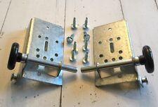 Pair BB-100 & Nylon Rollers Residential Bottom Bracket Fixture Steel Garage Door