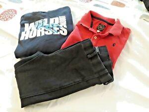 Joules Polo Shirt, Requisite Jodhpurs, Equestrian Hoodie . Bundle Age 9-10yrs