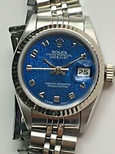 Rolex Lady Datejust White Gold & Steel Blue Jubilee Dial 69174 + Box