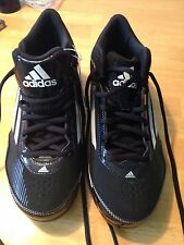 NWT Black and White Adidas Hotstreak TPU 2 Mid Baseball Shoes - Size 6 1/2