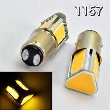2X COB LED Amber Car Bulb Rear Signal 1157 2357 3496 7528 BAY15D P21/5W K1 HAK