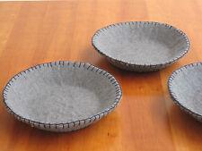 3 x Schale aus Filz, grau / Filzschale, Schüssel, Schälchen - NEU