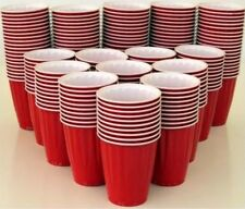 100 AMERICAN LG 523ML PARTY CHINET RED CUPS BEER PONG SCHOONER USA BIG RED CUP