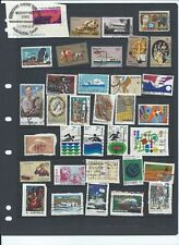 Australia stamps. Stock page of used. Some still on paper. (A543)