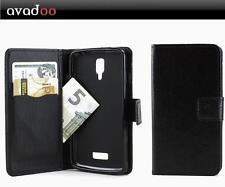 avadoo® Medion Life P5001 Flip Case Schutz Tasche Magnet Schwarz