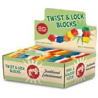 Kids Twist and Lock Wooden Blocks Mini Puzzle Twisty Fidget Sensory Toy Tobar