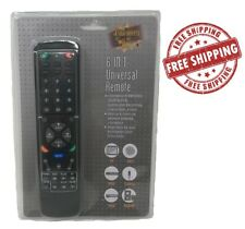 Universal Remote Control 6 In 1 Tv Dvd Vcr Satellite Receiver Cable Box Audio