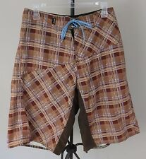 REEF Men's Brown/Tan/Red Swim Trunks/Shorts