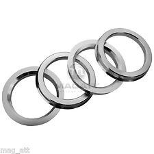 4 Anelli di centraggio Alluminio 73,1 - 57,1 VW AUDI SEAT GOLF SKODA BARRACUDA