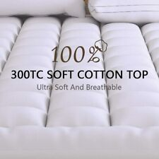 Extra Thick Mattress Topper Queen Size Down Alternative Pillow Top Cover Pad