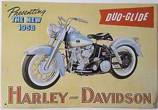 """HARLEY DAVIDSON DUO-GLIDE TIN METAL SIGN  16 1/4"""" X 11"""""""