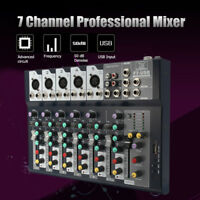 7 Channels Professional Stage Live Studio Audio Mixer USB Mixing Console DJ KTV