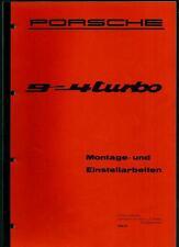 Porsche 9 -- 4 < montage et paramétrages > Catalogue/prospectus (brochure)