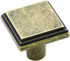 Amerock BP26117R2 Manor 1-1/16 in (27 mm) Length Weathered Brass Cabinet Knob